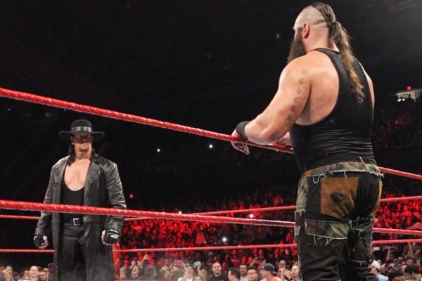 The undertaker returns to wwe raw roman reigns wrestlemania match set - Braun strowman theme ...