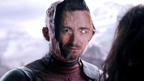 Deadpool Wearing Hugh Jackman Mask
