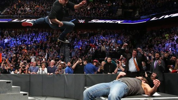 Shane McMahon AJ Styles Table