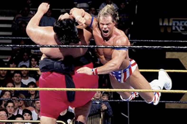 Image result for yokozuna vs lex luger wrestlemania 10
