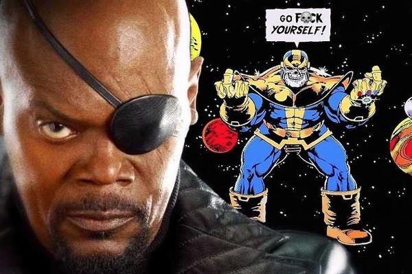 Nick Fury Thanos