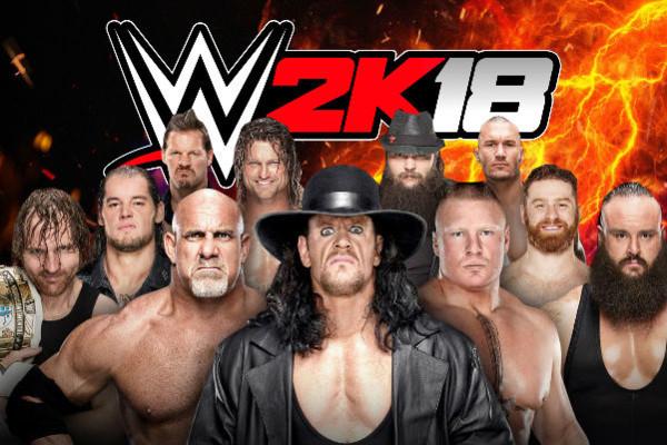 WWE 2K18 cover stars undertaker lesnar goldberg wyatt ziggler zayn strowman ambrose corbin jericho