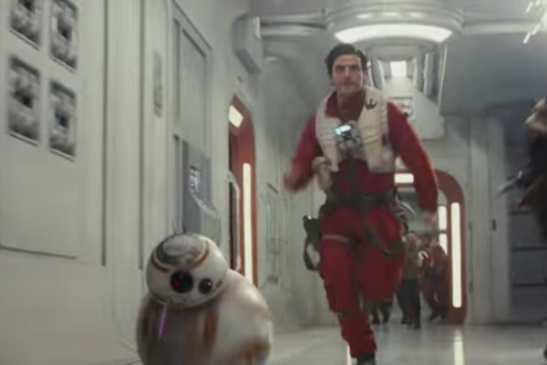 Star Wars The Last Jedi Trailer BB-8 Poe Dameron