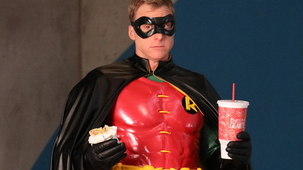 Powerless Alan Tudyk Van Wayne Robin Suit Feature