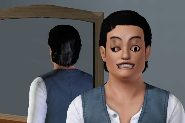 The sims face