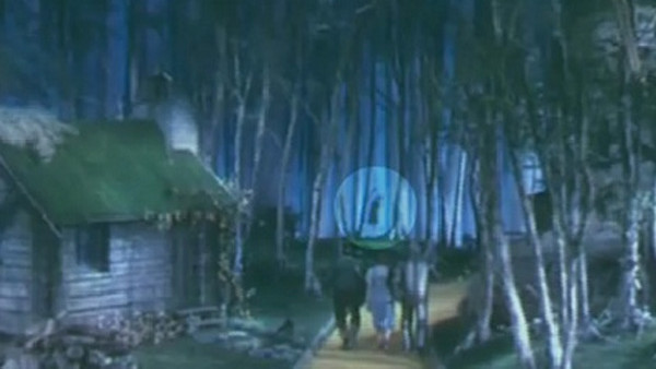 Wizard of oz hanging in background