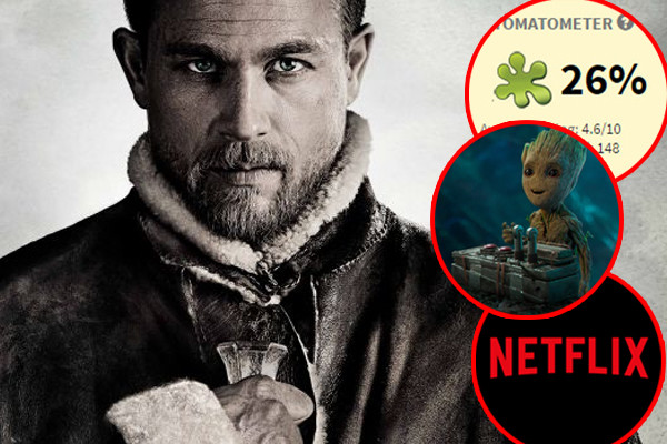 King Arthur Legend Of The Sword Netflix Guardians Of The Galaxy Vol 2 Rotten Tomatoes