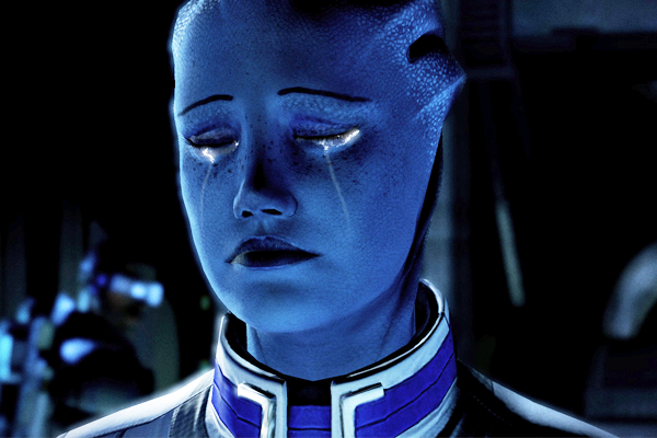 Mass Effect Liara Sad Cry