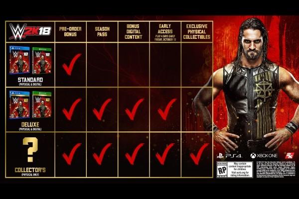 WWE 2K18 Pre Order