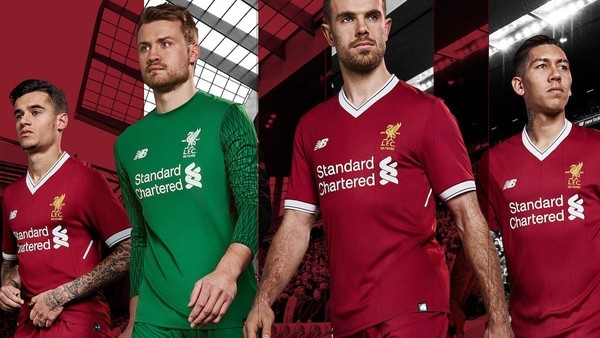 Liverpool 17 18 New Balance 125th Anniversary Home Kit J