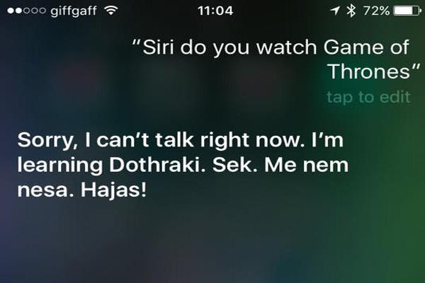 Siri Game Of Thrones 6