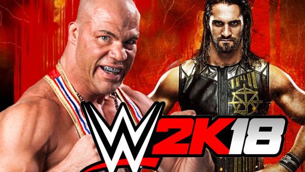 WWE 2k18 Kurt Angle Seth Rollins