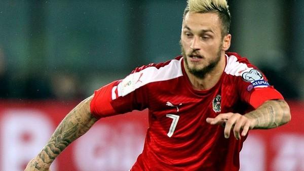 Marko Arnautović Playing For Austria Vs Wales 01
