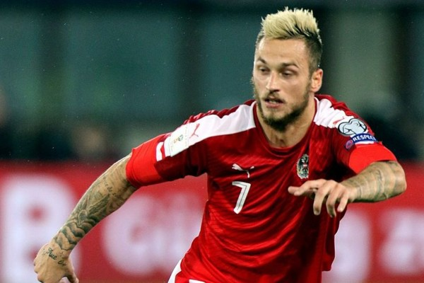 Marko Arnautović Playing For Austria Vs Wales 01