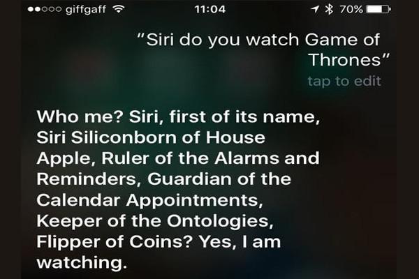 Siri Game Of Thrones 2