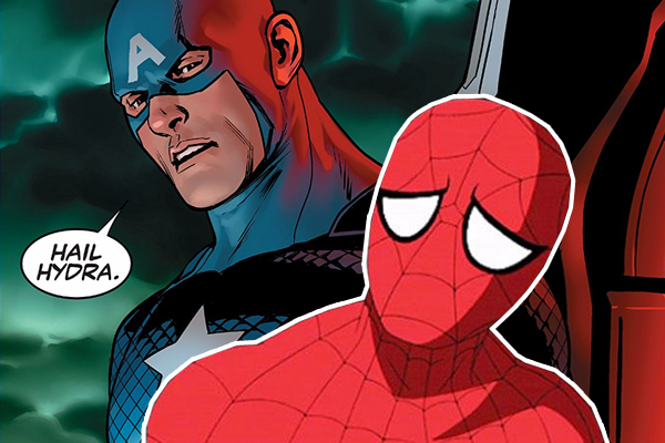 Spider-Man Hydra Cap Sad Times