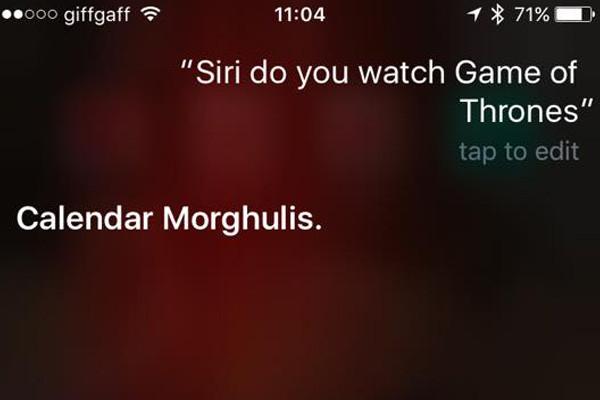 Siri Game Of Thrones 4