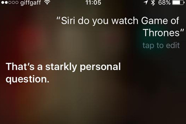 Siri Game Of Thrones 1