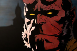 Close Up Of Hellboy Face Comic