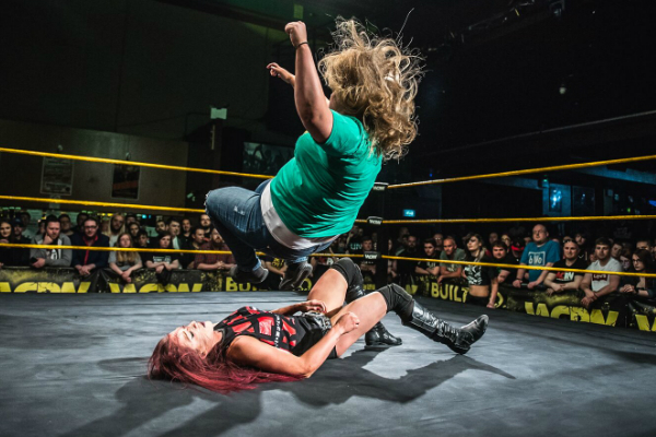 Kay Lee Ray had to go through Bea Priestley's gate-keeper to win the Women's Title.