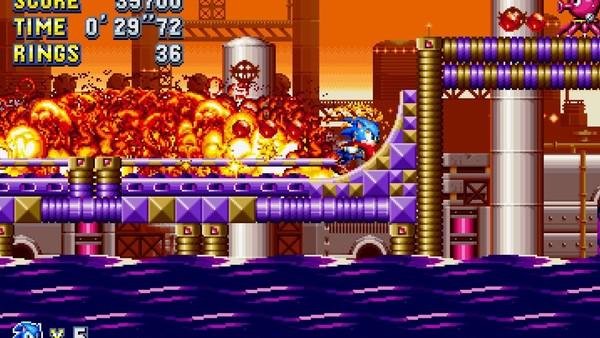 Sonic Mania Oil Ocean