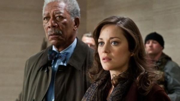The Dark Knight Rises Morgan Freeman Marion Cotillard