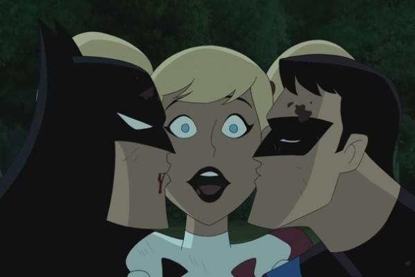 Batman And Harley Quinn Nightwing Kiss