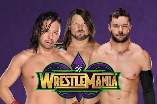 Aj Styles Shinsuke Nakamura Finn Balor Wrestlemania 34