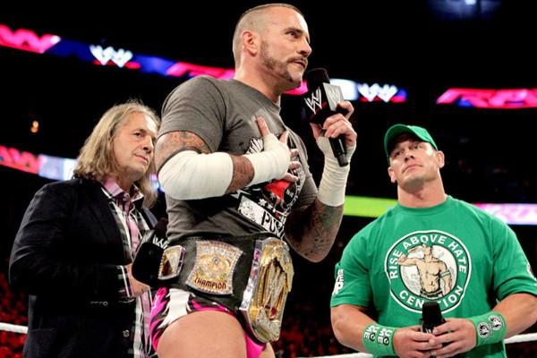 Bret Hart CM Punk John Cena