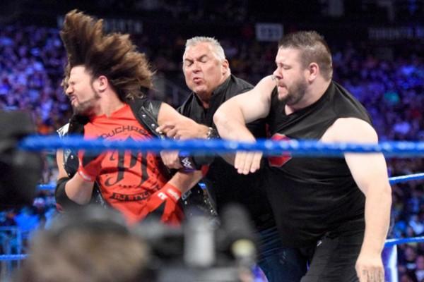 AJ Styles Shane McMahon Kevin Owens