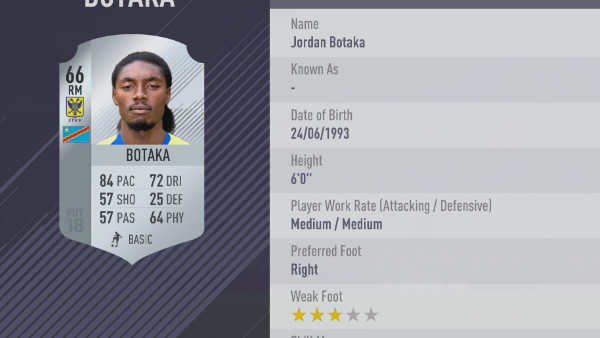 FIFA 18 Botaka