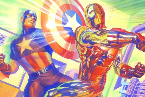 Captain America vs Iron Marvel
