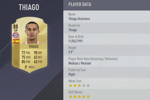 FIFA 18 Thiago