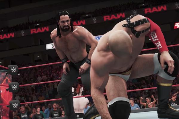 WWE 2K18 Rollins cesaro