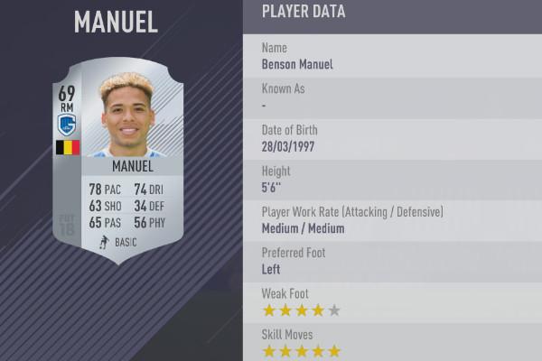 FIFA 18 Manuel