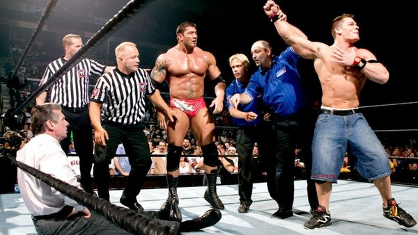 Vince McMahon, Batista, John Cena