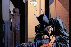 Batman hugs Robin Identity Crisis 5