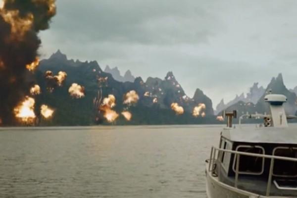 Arrow Lian Yu Explosion