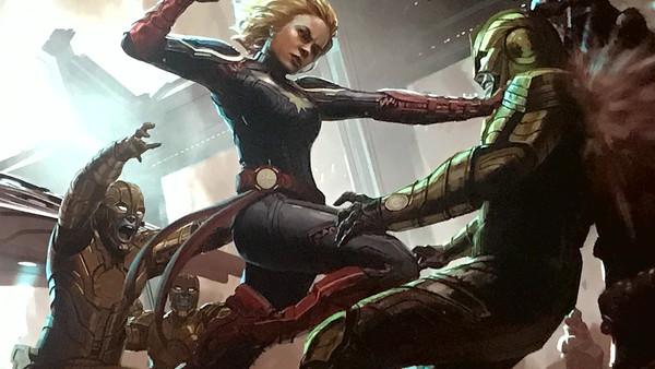Captain Marvel Skrulls Concept Art