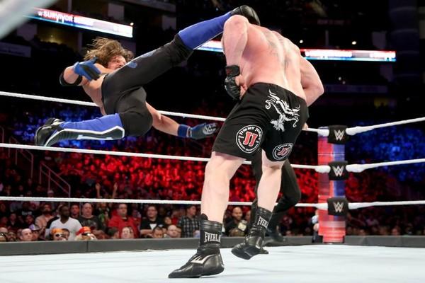 AJ Styles Brock Lesnar