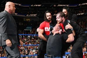 SmackDown Kurt Angle Shane McMahon The Shield