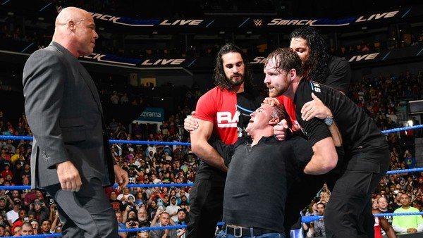 SmackDown Kurt Angle Shane McMahon The Shield