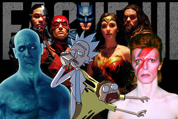 Justice League Watchmen David Bowie Rick And Morty