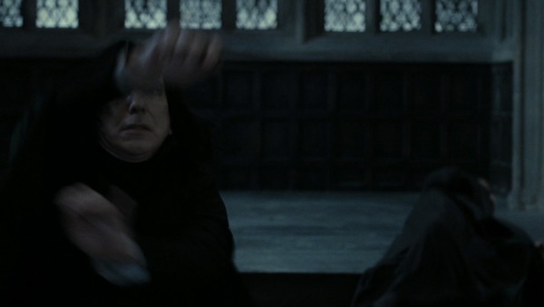 Harry Potter Deathly Hallows Part 2 Snape Stuns Death Eaters