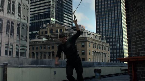The Punisher Zipline Jon Bernthal