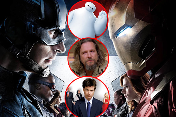 Captain America Civil War Big Hero 6 The Big Lebowski Arrested Development