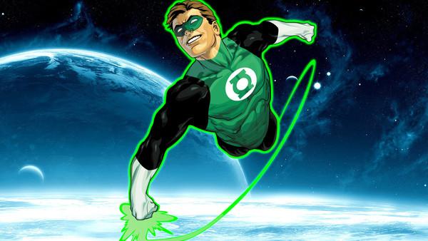 Green Lantern In Space