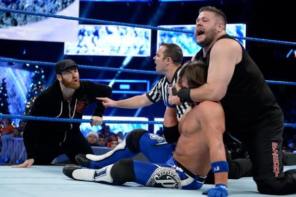 Sami Zayn AJ Styles Kevin Owens