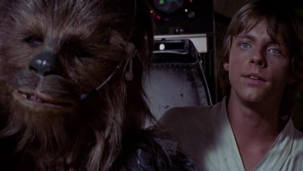 Star Wars A New Hope Luke Skywalker Chewbacca