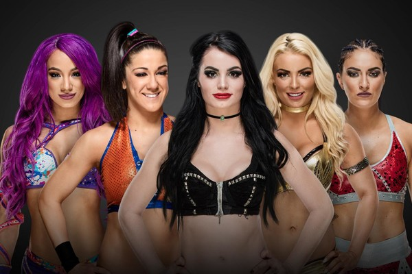 Sasha Banks Bayley Paige Mandy Rose Sonya Deville Women's Royal Rumble